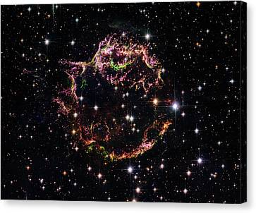 Canvas Print featuring the photograph Supernova Remnant Cassiopeia A by Marco Oliveira