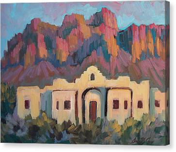Superstition Mountain Evening Canvas Print