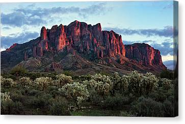 Superstition Mountains Colors Canvas Print by Dave Dilli
