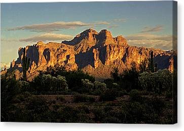 Superstitions At Sunset  Canvas Print