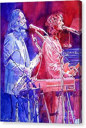 Famous Musician Canvas Print - Supertramp by David Lloyd Glover