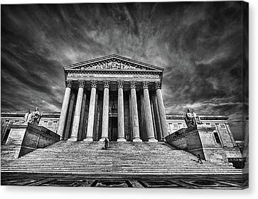 Supreme Court Building In Black And White Canvas Print by Val Black Russian Tourchin
