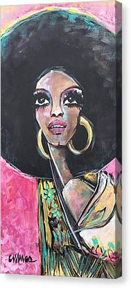 Diana Ross Canvas Print - Supreme Love For Diana Ross by Laurie Maves ART