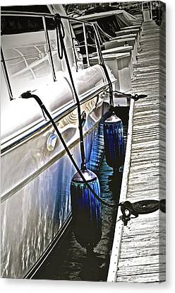 Sure-thing Boat Canvas Print by Gwyn Newcombe