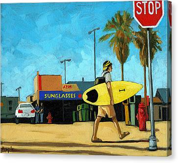 Surf And Turf - Oil Painting Canvas Print