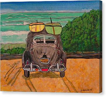 Surf Beetle Canvas Print by W Gilroy