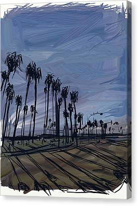 Surf City Canvas Print by Russell Pierce
