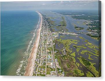 Food Store Canvas Print - Surf City Topsail Island Longview by Betsy Knapp