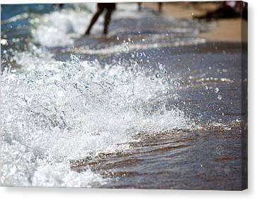 Surf Crashing Canvas Print by Lisa Knechtel