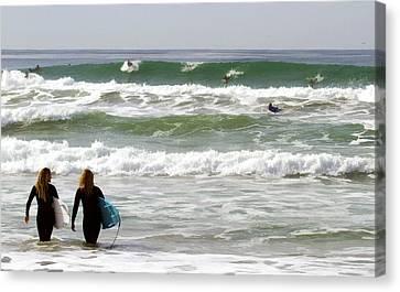 Surf Crowd Canvas Print by Waterdancer