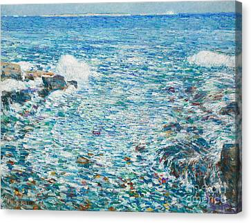 Childe Canvas Print - Surf, Isles Of Shoals, 1913 by Childe Hassam