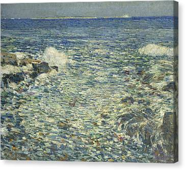 Surf, Isles Of Shoals Canvas Print by Childe Hassam