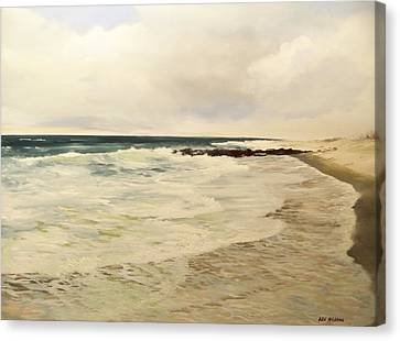 Canvas Print featuring the painting Surf Lace by Ken Ahlering