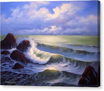 Surf Melody Canvas Print