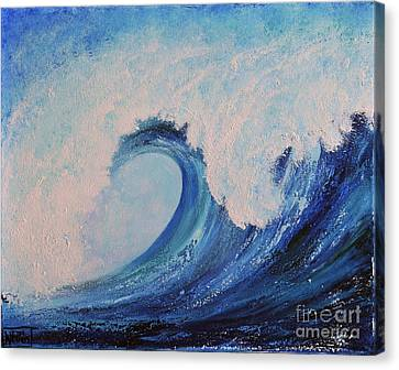 Canvas Print featuring the painting Surf No.2 by Teresa Wegrzyn