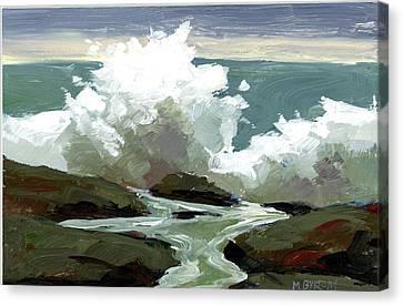 Surf Poem Canvas Print by Mary Byrom