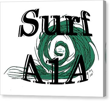 Surf Sign Canvas Print