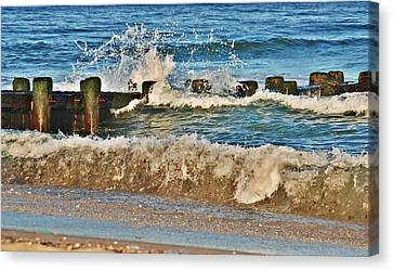 Surf Stir - Jersey Shore Canvas Print by Angie Tirado