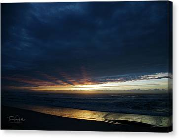 Surf Sunrise Fog Canvas Print