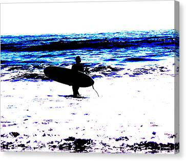 Surf Canvas Print by Tim Tanis