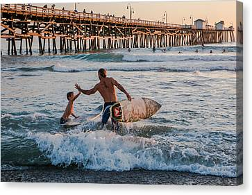 Surfboard Inspirational Canvas Print by Scott Campbell
