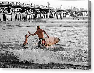 Surfboard Inspirational - Selective Color Canvas Print by Scott Campbell