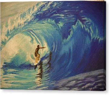Surfer Canvas Print by Agnes V