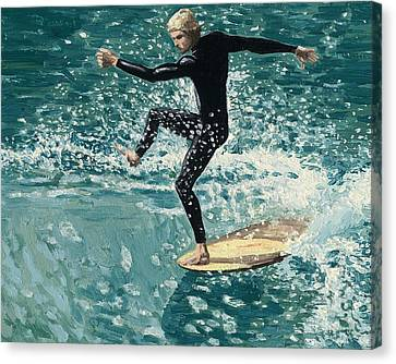 Surfer Canvas Print by Andrew Palmer