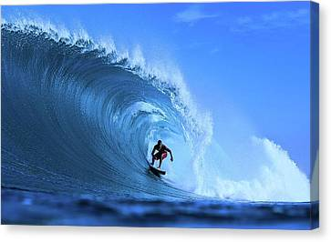 Canvas Print featuring the photograph Surfer Boy by Movie Poster Prints