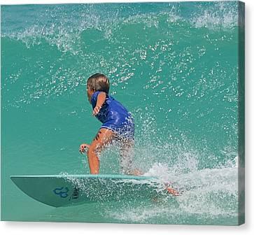 Surfer Boy Canvas Print by  Newwwman