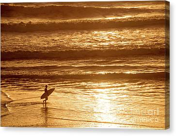 Canvas Print featuring the photograph Surfer by Delphimages Photo Creations