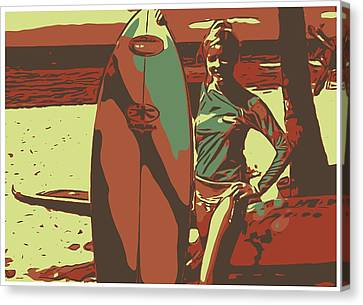 Surfer Girl Canvas Print