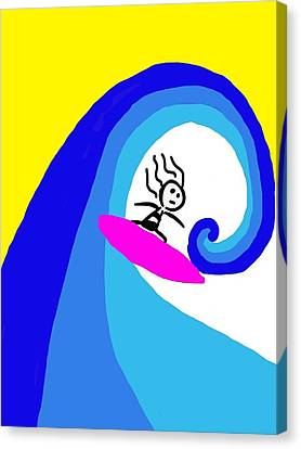 Surfer Girl Canvas Print by Shanhan Truitt-Roos