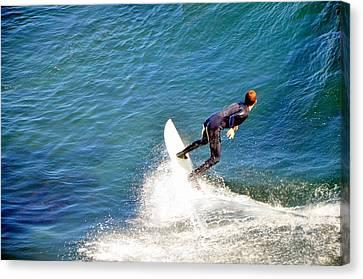Surfer, Steamer Lane, Santa Cruz, Series 19 Canvas Print by Antonia Citrino