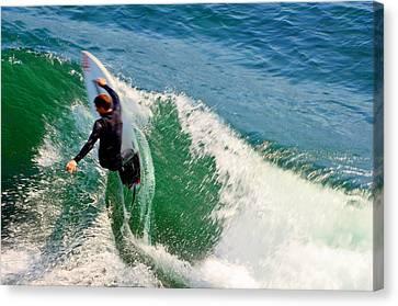 Surfer, Steamer Lane, Series 18 Canvas Print by Antonia Citrino