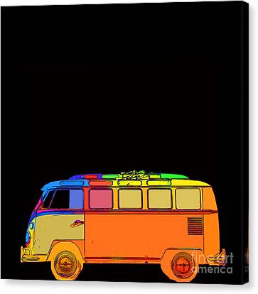 Volkswagon Canvas Print - Surfer Van by Edward Fielding