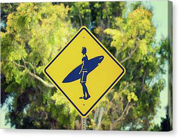 Surfer Xing 1 Canvas Print