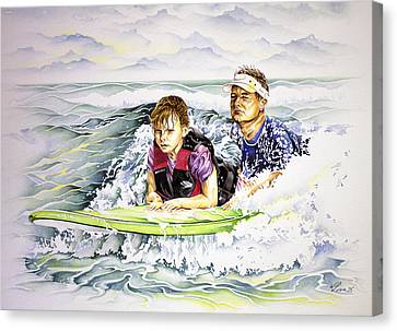 Surfers Healing Canvas Print by William Love