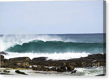 Canvas Print featuring the photograph Surfers Point by Angela DeFrias