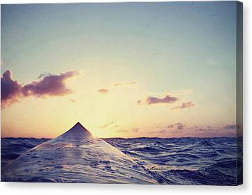 Surfer's Sunset Canvas Print by Paul Topp