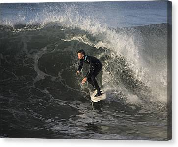 Surfing At 26th Avenue Canvas Print
