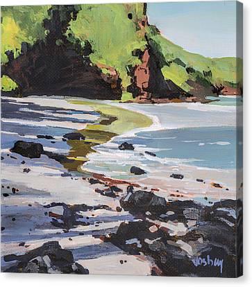 Surfing At Koki Beach Hana Canvas Print