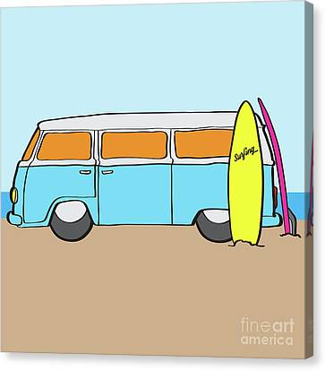 Surfing Australia Vw Kombi Van Canvas Print by Jorgo Photography - Wall Art Gallery