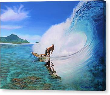 Surfing Dan Canvas Print