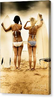 Surfing Forecast Canvas Print