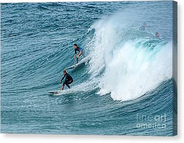 Surfing Fun By Kaye Menner Canvas Print by Kaye Menner