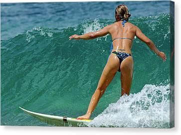 Surfing Maui Hawaii 2 Canvas Print by Bob Christopher