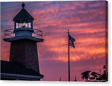 Surfing Museum Full Color  Canvas Print by Lora Lee Chapman