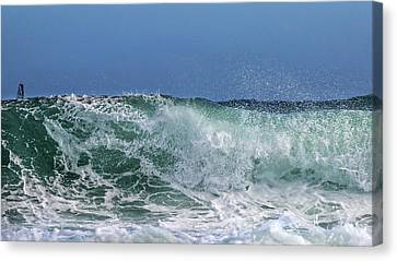 Surfing Out  Canvas Print by Stelios Kleanthous