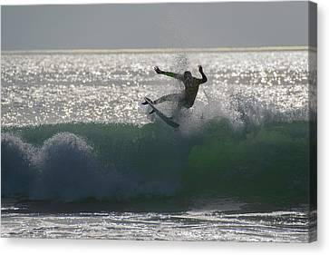 Canvas Print featuring the photograph Surfing The Light by Thierry Bouriat